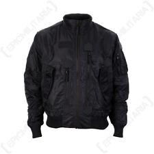 US Tactical Flight Jacket - Black - Men's Coat American Military All Sizes New