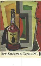 PUBLICITE ADVERTISING 1981   SANDEMAN  porto RUBY
