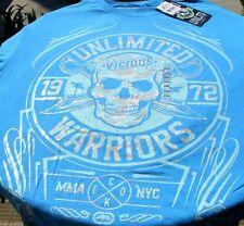Ecko Unltd Mens MMA NYC T-Shirt Blue With Skill Unlimited Vicious Warriors