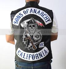 Sons of Anarchy Bikers Genuine Leather Vest for Highway Bikers Gangs   SOA