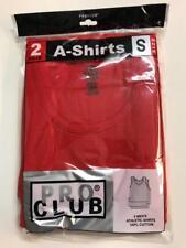2 New PROCLUB MEN'S A-shirts Red Tank Top Undershirts Pro Club SMALL-7XL 2PC