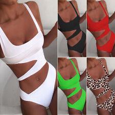 2-piece Women Solid Piece Of Swimsuit Bikini Set Swimwear Beachwear Bathing Suit