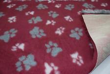 Professional NON SLIP Veterinary Dog Bedding LG PAWS - CLARET