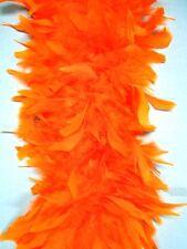 80 Gram CHANDELLE FEATHER BOA - ORANGE 2 Yards Costumes