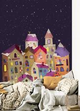 3D Farbige Häuser 526 Tapete Tapeten Mauer Foto Familie Tapete Wandgemälde DE