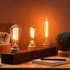 Tungsten Filament Squirrel Cage Retro Antique Edison Light Bulb E27 Screw Cap ES