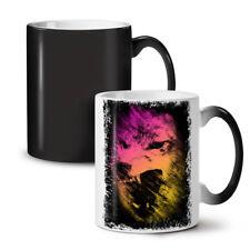 LUPO Colorata Faccia Animale NUOVO colore modifica Tè Tazza Da Caffè 11 OZ | wellcoda