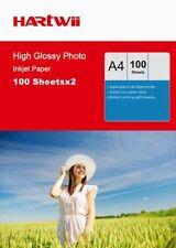 200 Sheets A4 180 / 230 / 240 / 260 Gsm High Glossy Photo Inkjet Paper Hartwi UK