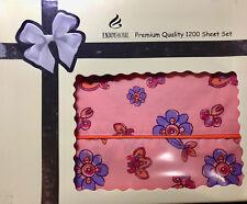 Premier quality 1200 egyption cotton touch 3 pc twin sheet set Nib by Enjoy Home
