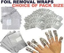 NAIL FOIL REMOVER WRAPS FOR NAIL GEL POLISH UV LED ART SOAK OFF ACRYLIC REMOVAL