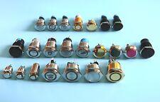 Einbauschalter Schalter Taster Druckschalter verschiedene Typen und Größen LED