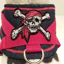 Softgeschirr  Brustgeschirr Hundegeschirr XS-M Welpen Jeans Pirat Chihuahua Hund