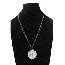Antique Tetragrammaton Pentacle Pentagram Amulet Pendant Chain Neckalce Wiccan