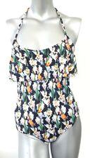 Topshop Layer Shelf Floral Black Swimsuit Monokini Costume SW57 6,8,10,12,14,16