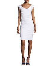 NWT Diane von Furstenberg Bevin Ruched Sheath Dress White $348 – 6, 8, 10,12, 14