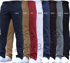 Da Uomo Designer Pantaloni Chinos Stretch Skinny Slim Fit Jeans Tutti Girovita Taglie Holt