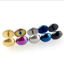 Faux plug piercing Métal pour l'oreille  tailles du disque 8  mm tige de 1.2 mm