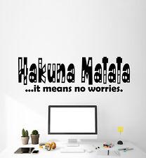 Vinyl Wall Decal Stickers Quote Words Hakuna Matata Inspiring Positive (2496ig)