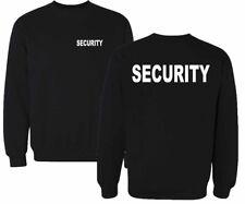 SECURITY  Sweatshirt Pullover schwarz Druck weiß oder silber reflektierend  SE1