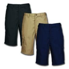 Men's Work Shorts Cargo Pocket Cotton Blend Industrial Uniform Elastic Waistband