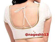 Readymade Saree Blouse, readymade blouse, sari blouse, choli, White Sari Blouse