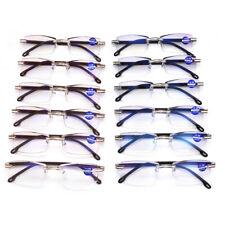 Anti Blue Light Glasses Presbyopia Unisex Rimless Reading Glasses Lens NEW