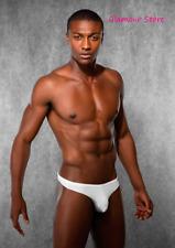 Sexy Perizoma Bianco in Tessuto Elasticizzato Underwear Uomo Tanga Slip GLAM!