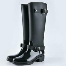 Botas de lluvia Alta de Mujer Damas Calzado Goma Prueba de Agua Women Rain Boots