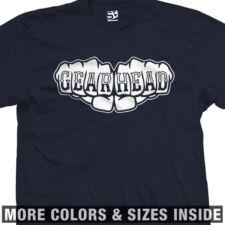 Gear Head Fist  T-Shirt - Knuckle Tattoo Mechanic Motorhead GearHead All Colors