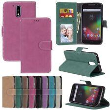 For BQ Moto HTC ZTE Xiaomi Phone Wallet ID Card Matte Leather Case Cover TPU DK