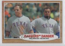 2011 Topps Heritage Chrome Refractor C58 Josh Hamilton Nelson Cruz Texas Rangers