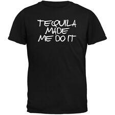 Cinco de Mayo - Tequila Made Me Do It Black Adult T-Shirt