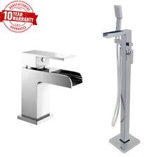 Waterfall Freestanding Bath Shower Mixer Tap Modern Cascade Monobloc Basin tap