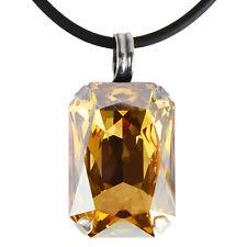Grevenkämper Halskette Swarovski Kristall Silber Rechteck gold Crystal G. Shadow