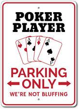 Poker Player Parking Sign, Poker Player Gift, Poker Room Decor ENSA1002807