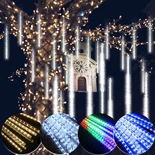 2/3/5 Set 8 Tube LED Meteor Shower Rain Lights Xmas Falling String Lights 288LED