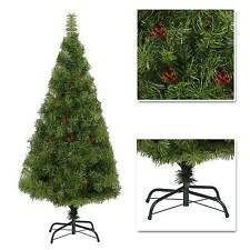 Elegant Artificial Christmas Tree Boulder Pine with Berry Xmas Decorations