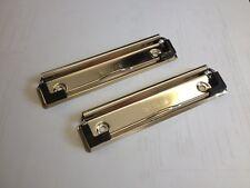 Steel Presse-papiers Clips 120 mm avec trous de fixation et plastique coins.