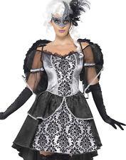 Sexy Burlesque Dark Angel Masquerade Ball Gown Halloween Costume Womens