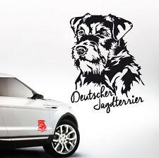 AWILPORT Auto Aufkleber DEUTSCHER JAGDTERRIER Portrait Hunde WILSIGNS SIVIWONDER