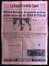 LA GAZZETTA DELLO SPORT 17-5-1952 , FERDI KUBLER , RUGBY ITALIA