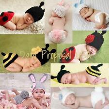 Handmade Newborn Baby Girl Boy Crochet Knit Hat Costume Easter Animal Photo Prop