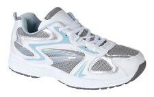 Donna Tramonto Bianco Blu Comfort Scarpe da Ginnastica con Lacci 1f2d776eba8
