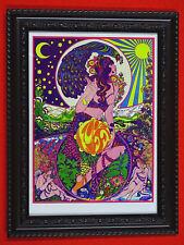 "Psychedelic art, framed, Marijke Koger, authentic 5"" x 7"" prints, 5 options"