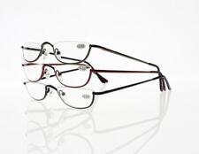 3 Colors Unisex Mini Metal Half Frame Reader Reading Glasses +1.00 ~ +4.00 New