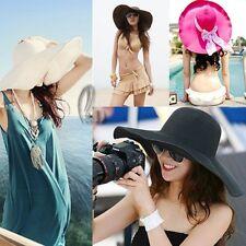 Vintage Style Wide Brim Floppy Fold Beach Sun Hat hat012