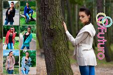 Lovely Women's Mantle with Hood & Pocket Jacket Style Poncho Coat FK1195