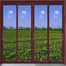 ANEMONE/FLOWER VINYL ETCH PATIO/DOOR/ WINDOW/ MIRROR FROSTED GLASS ART STICKERS