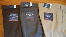 NWT, $54. MSRP Mens Croft & Barrow Flat Front Essential 100% Cotton Khaki Pants