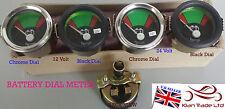 12V 24V Boat BATTERY METER Power Ammeter GAUGE CLOCK Auto VINTAGE-M617
